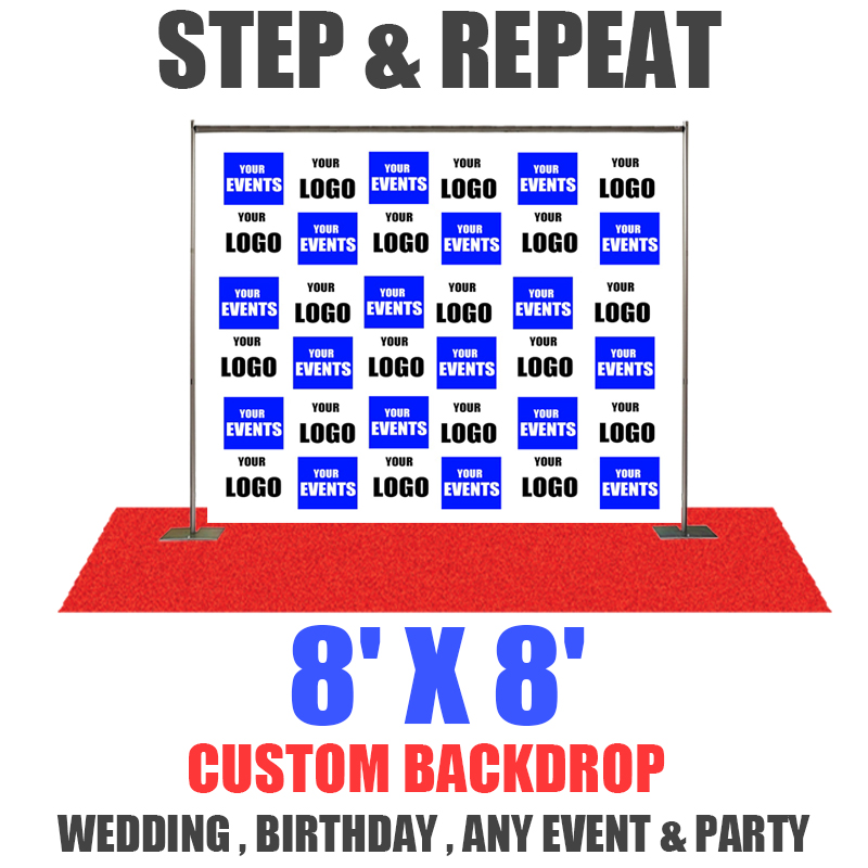 8x8 Step And Repeat Banner Eventbackdropbanner